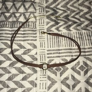 GOLD & BROWN CHOKER